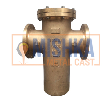 Copper Nickel Casting India, basket type strainer specifications